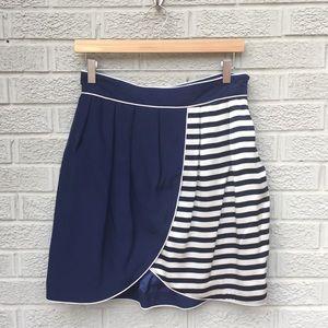Thread Social Tulip Pleated Waist Striped Skirt